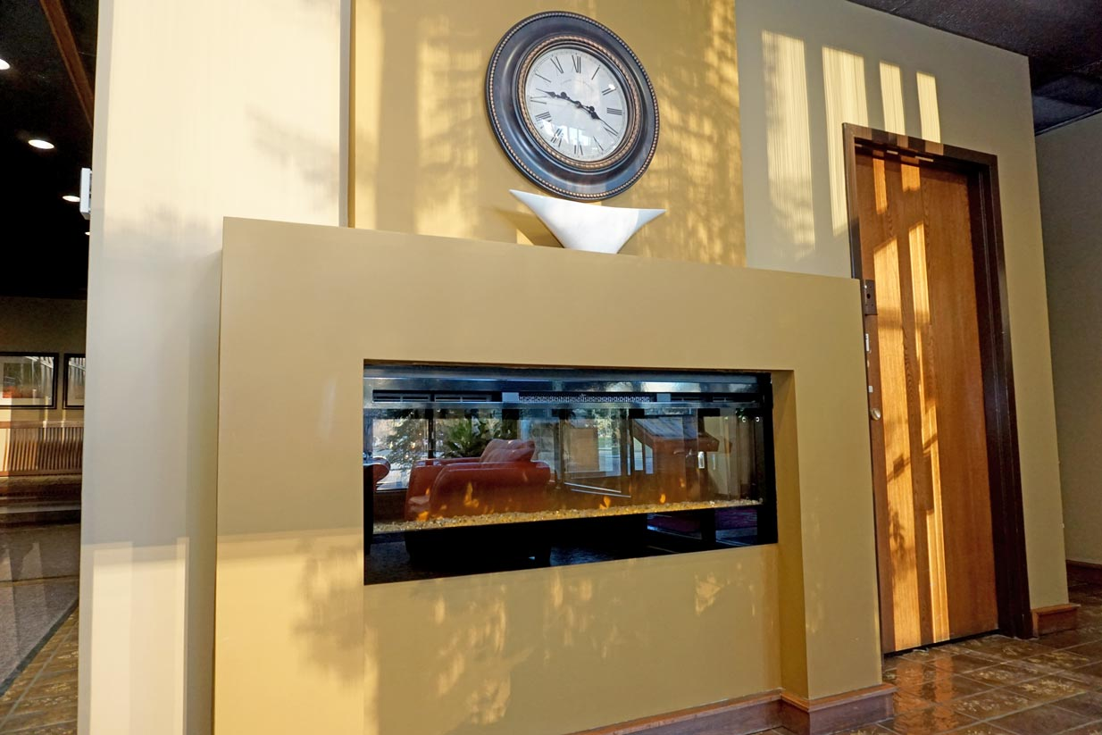 Evergreen Main Foyer Fireplace